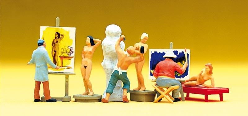 Maler, Bildhauer, Modelle, Zubehör 1:87 / H0