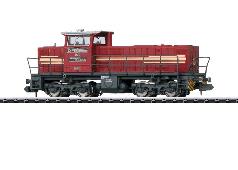 Diesellok MaK DE 1002 der Bentheimer Eisen, Minitrix Spur N