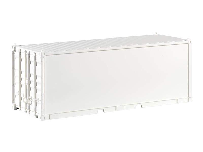 Container 20 weiß, unbedruckt, glatt, Spur G