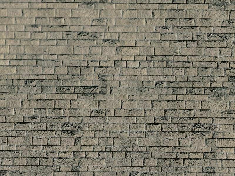 Mauerplatte Haustein natur aus Karton, 25 x 12,5 cm, Spur H0