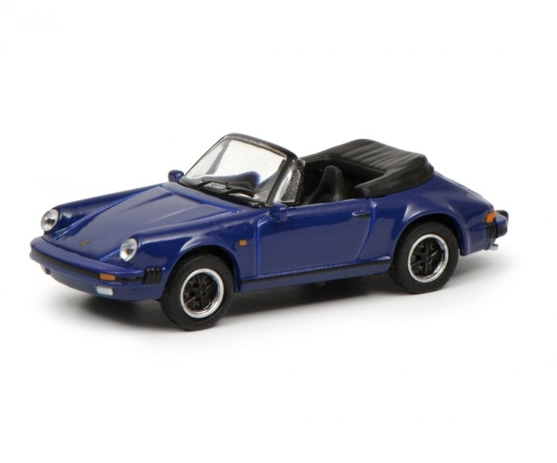 Porsche 911 Carrera 3.2 Cabriolet, blau, 1:87 / Spur H0