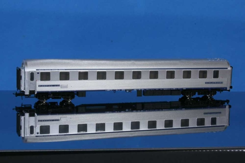 Schlafwagen Typ P, SNCF, silbern, Epoche IV, DC, Spur H0