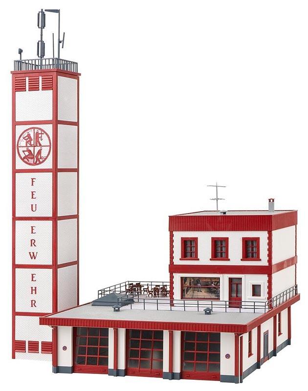 Moderne Feuerwache Bausatz, Spur H0