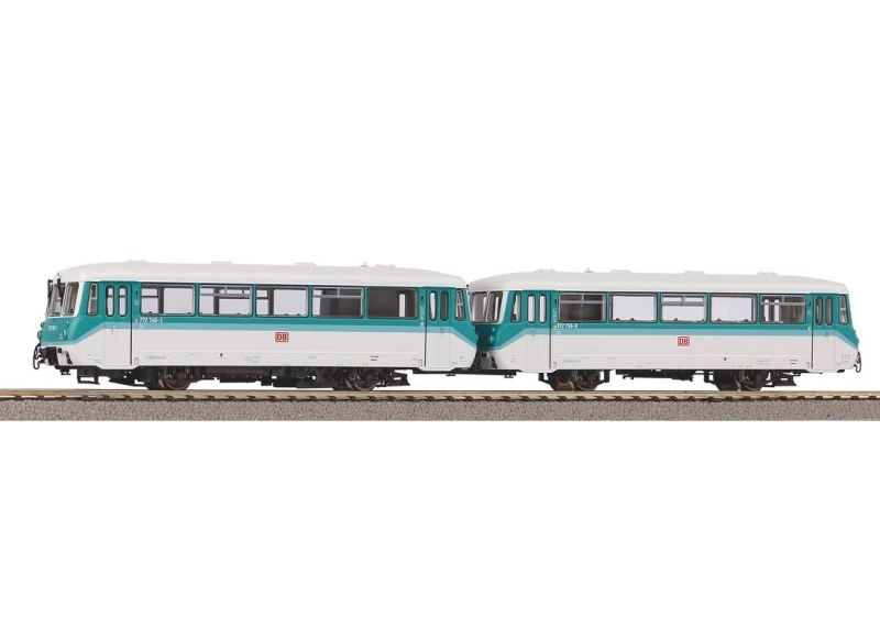Sound-Dieseltriebwagen BR 772 + Steuerwagen DB AG, DC, H0