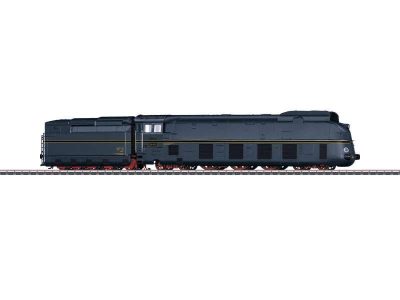 Stromlinien-Dampflok mit Schlepptender BR 05 der DR mfx+, H0