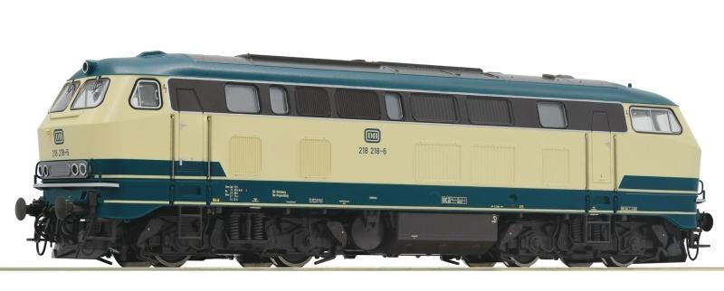 Diesellokomotive 218 218-6 der DB, DC, Spur H0