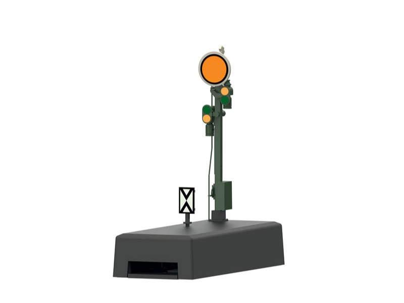 Form-Vorsignal mit stellbarer Scheibe H0
