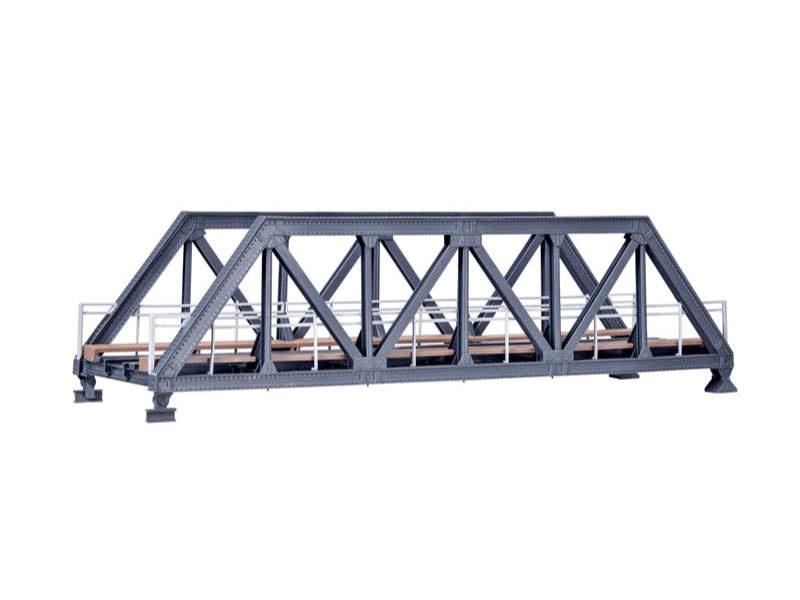 Stahl-Vorflutbrücke, eingleisig, Bausatz, Spur H0