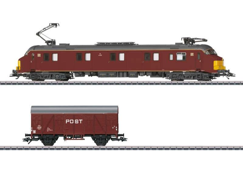 Elektrischer Post-Triebwagen Serie mP 3000 mit Wagen mfx H0
