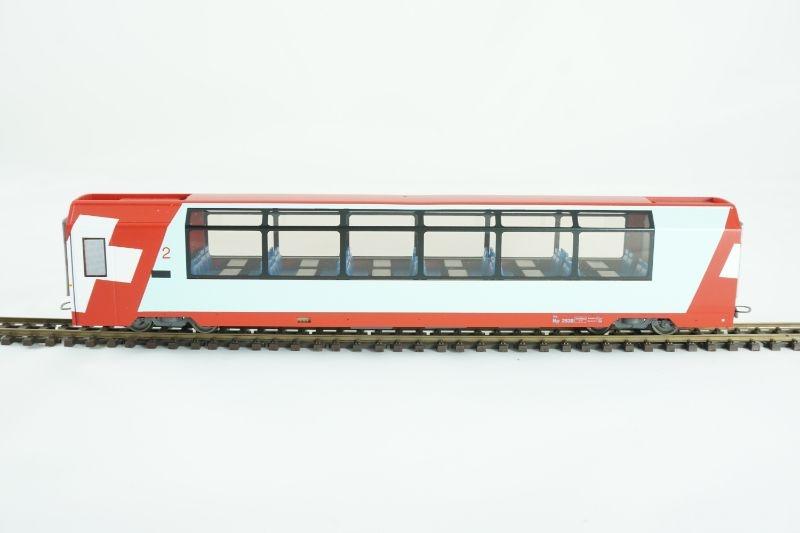 Panoramawagen Bp 2538 2.Klasse Glacier-Express, RhB, H0m