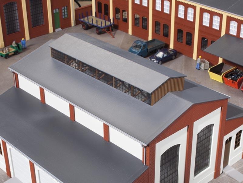 Dach mit Oberlicht, Bausatz, Spur H0