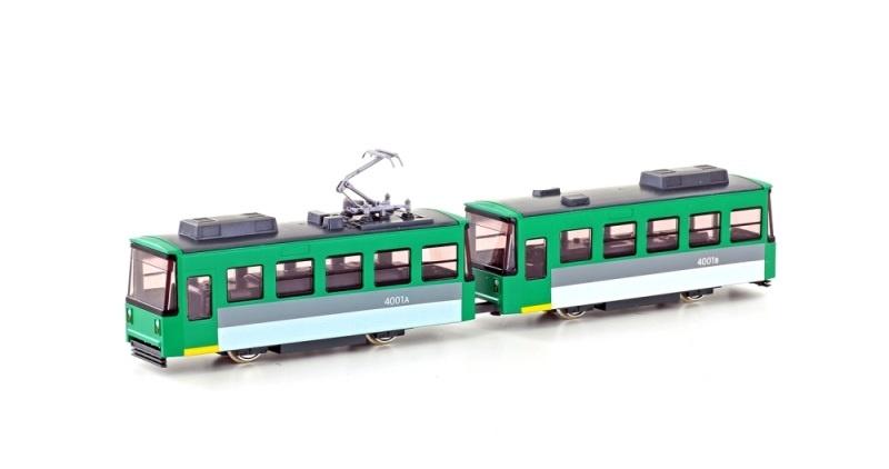 Pocket Line Straßenbahn 2tlg. grün, Spur N