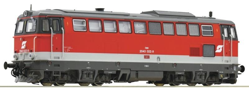 Diesellokomotive Rh 2043 der ÖBB, DC, Spur H0