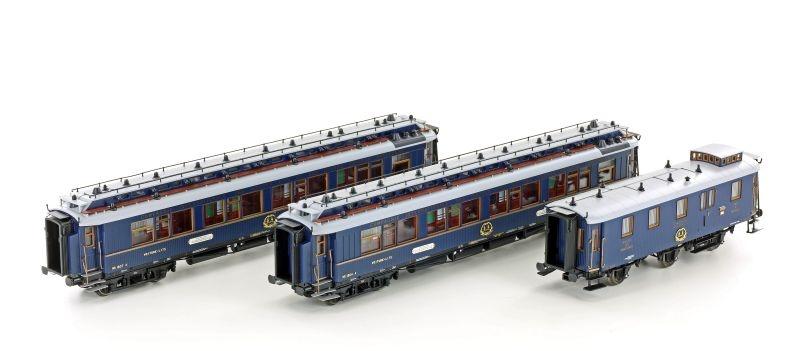 3-tlg. Simplon Express der CIWL, Ep.II, blau, DC, Spur H0