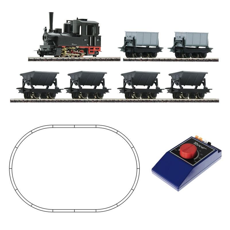 Analog Start Set: Feldbahndampflok mit Lorenzug, Spur H0e