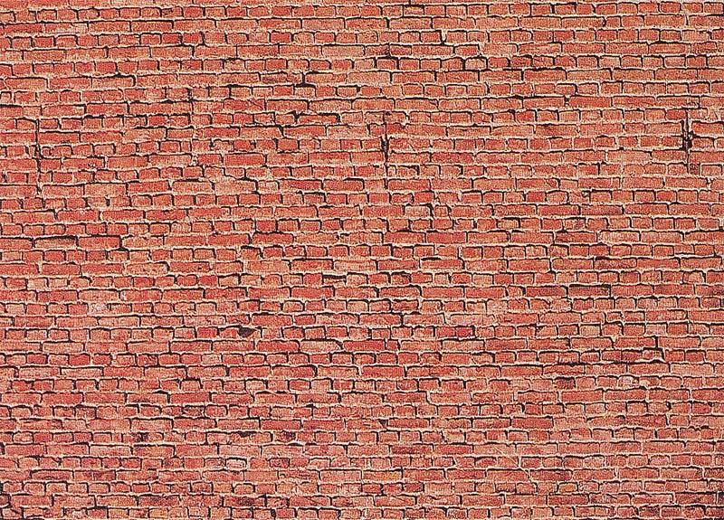 Mauerplatte, Klinker 250 x 125 x 0,5 mm H0