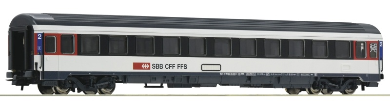 Eurocity-Abteilwagen 2. Klasse, SBB, DC, Spur H0