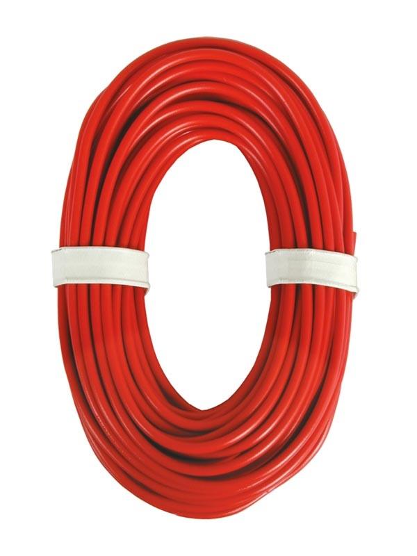 Hochstromkabel 0,75 mm², rot, 10 m