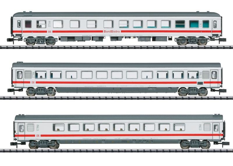 Schnellzugwagen-Set IC 2013 der DB AG, Minitrix Spur N
