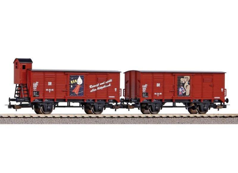 2er Set Gedeckter Güterwagen Fit der DR, Ep. III, DC, H0