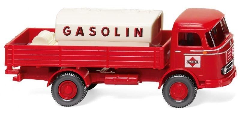 Pritschen-Lkw mit Aufsatztank (MB LP 321) Gasolin 1:87 / H0