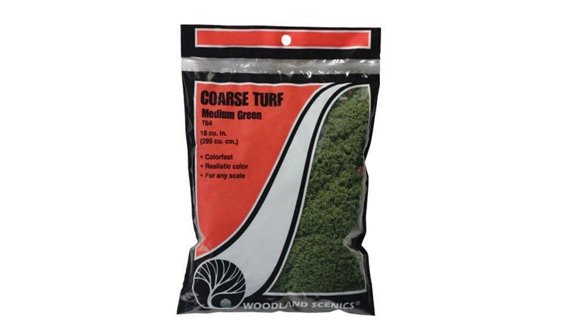 Streumaterial für hohes Gras, mittelgrün, grob