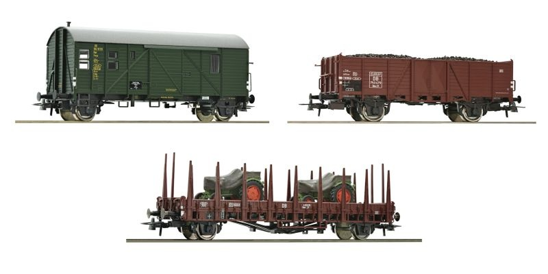 Set: 3 tlg. Güterzug Höllental der DB, 1. Teil, DC, Spur H0