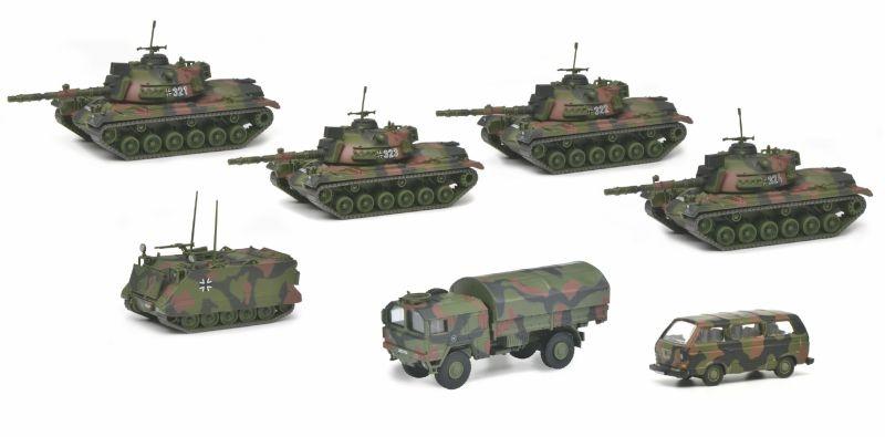 Panzerkompanie Bundeswehr, flecktarn, 7-teilig, 1:87 / H0