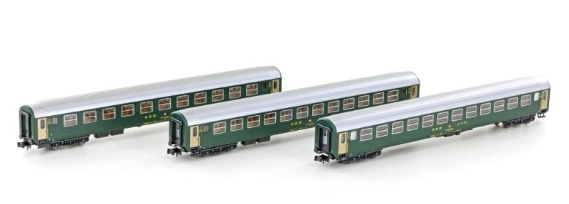 3er Set RIC Personenwagen Bm, 2.Kl. der SBB, Ep.IV, Spur N