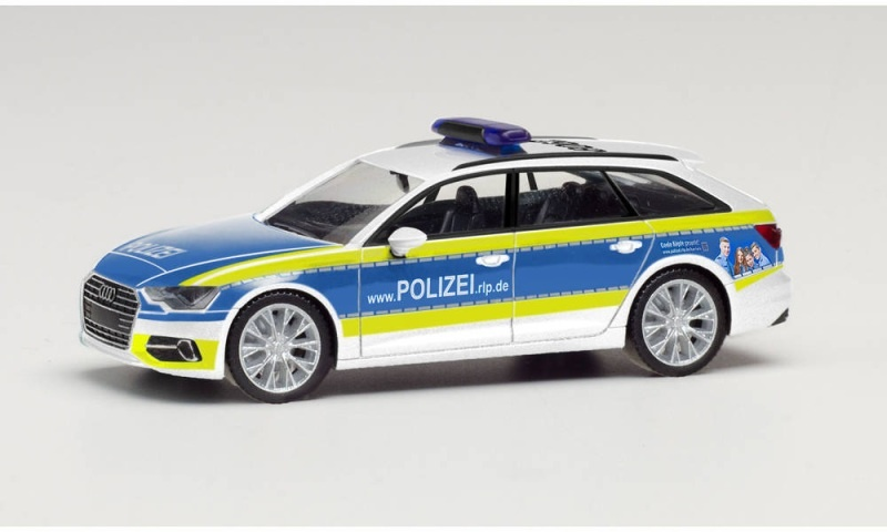 Audi A6 Avant Polizei Rheinland Pfalz, 1:87 / Spur H0