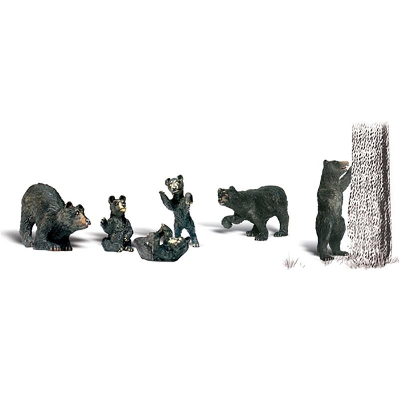 Schwarze Bären Figuren, Spur H0