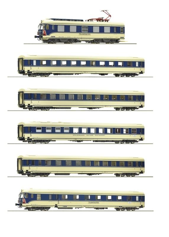 6-teiliger Elektrotriebzug 4010.04 Transalpin, ÖBB, DC, H0