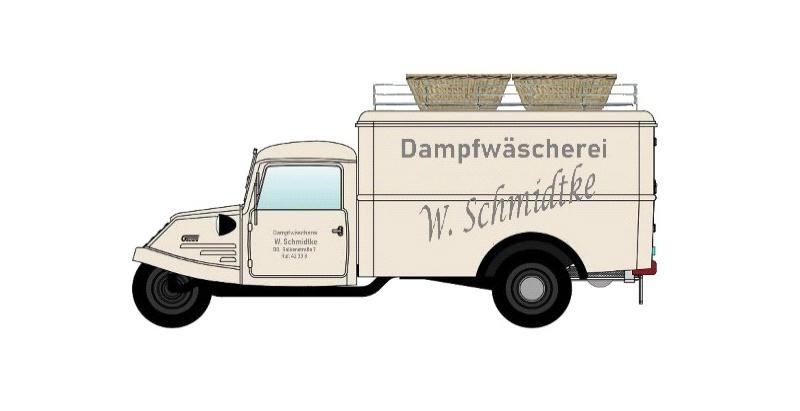 Goliath GD 750 Kastenwagen Dampfwäscherei Dortmund 1:87 / H0