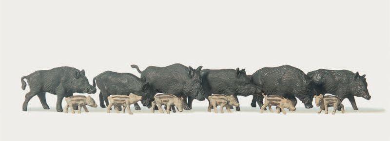 Wildschweine mit Frischlinge 1:87 / H0
