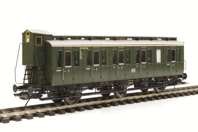 Preußischer Abteilwagen Bauart B3, mit Bremserhaus, Spur 0