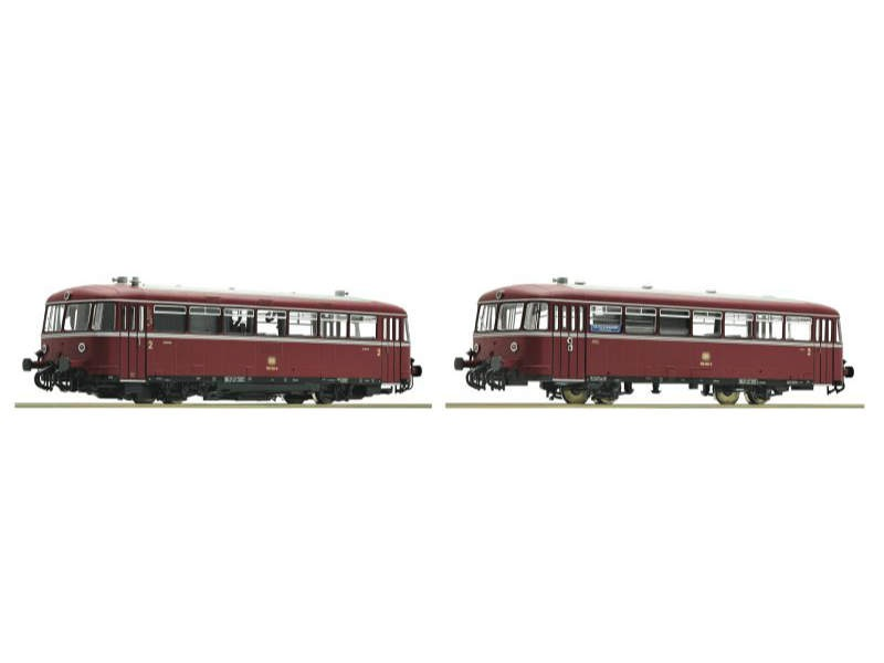 Schienenbus 2-teilig BR 798/998 der DB, DCC, Spur H0