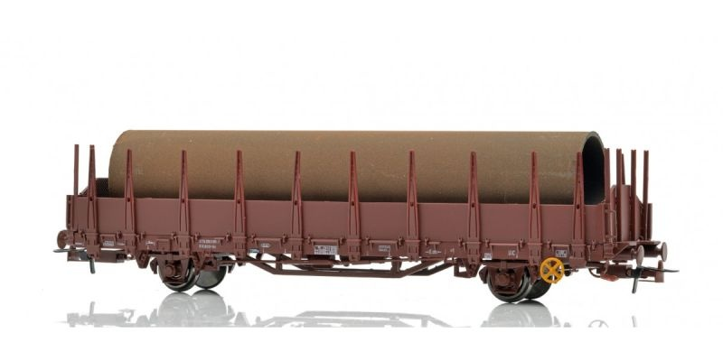 Rungenwagen Os  der NSB mit Beladung, Spur H0