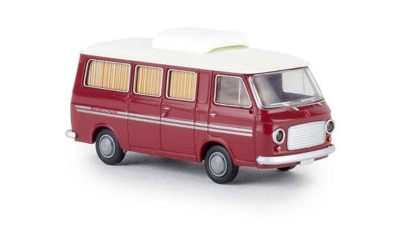 Fiat 238 Camper Weinsberg, rubinrot, TD, Spur H0