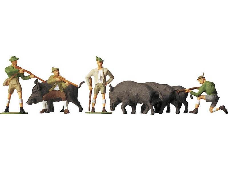 Auf der Jagd 8 Figuren H0