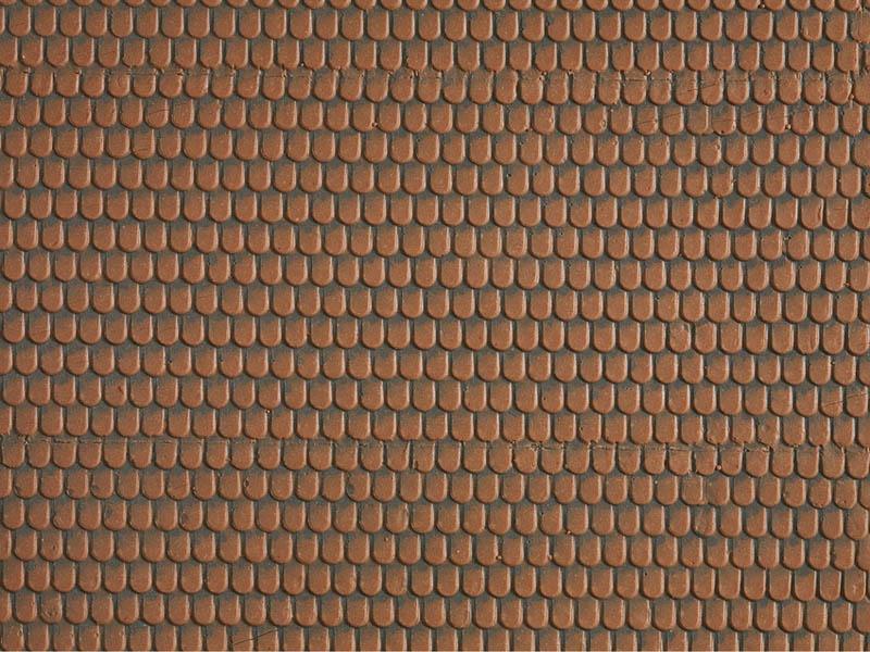 Biberschwanz, rot, 28 x 10 cm Spur H0