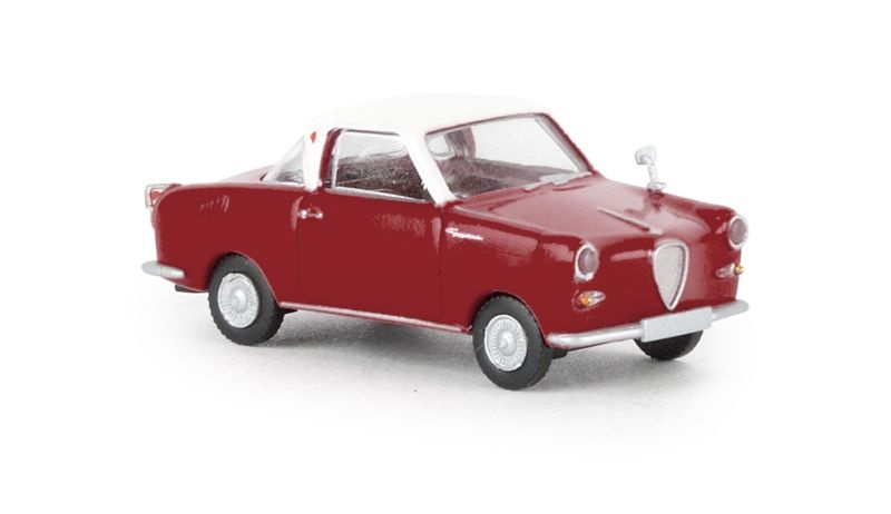 Goggomobil Coupe dunkelrot, weiss, TD, 1:87 / Spur H0