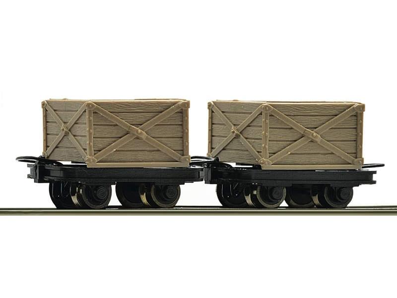 Güterwagen-Set Kastenloren 2-tlg. H0e