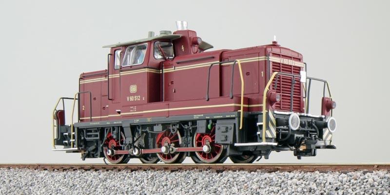 Diesellok BR V60 512, altrot, Epoche III, E-Kupplung,Spur H0