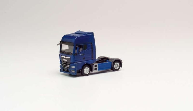 MAN TGX GX Zugmaschine, blau, 1:87 / Spur H0