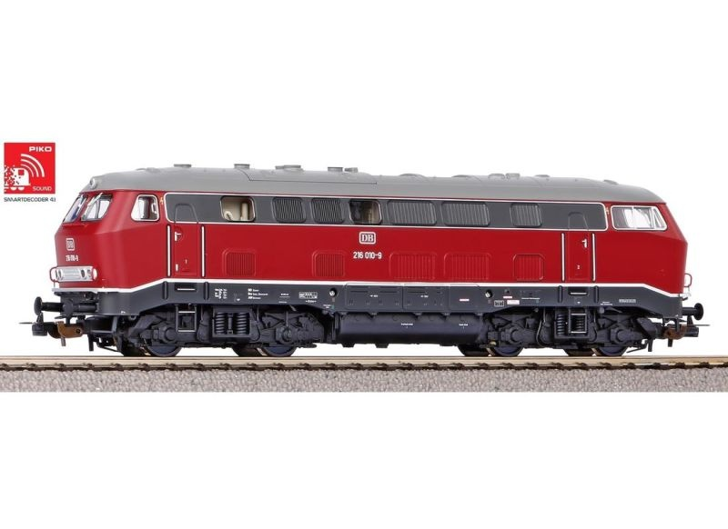 Sound-Diesellok BR 216 der DB, Ep. IV, DC, Spur H0
