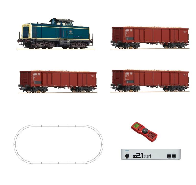 Digital-Set z21start: Diesellok BR 211 mit Rübenzug DB H0