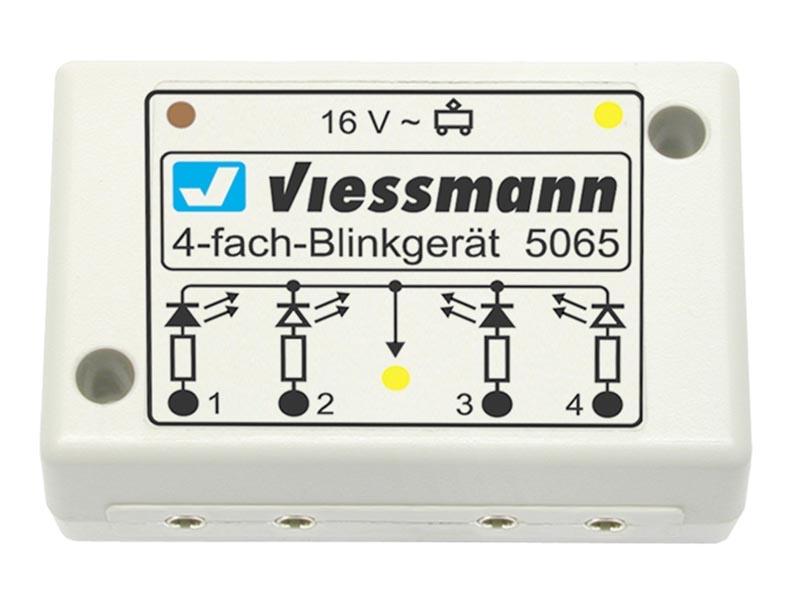 Vierfach-Blinkelektronik für Andreaskreuze, Spur N und H0