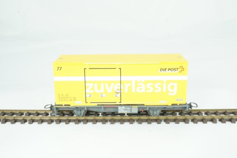 Containerwagen Lb-v 7880 zuverlässig der RhB, V, Spur H0m