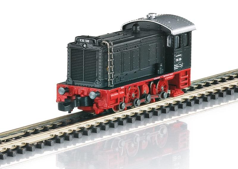 Diesellokomotive V 36 108 aus DB Museum Nürnberg, Spur Z