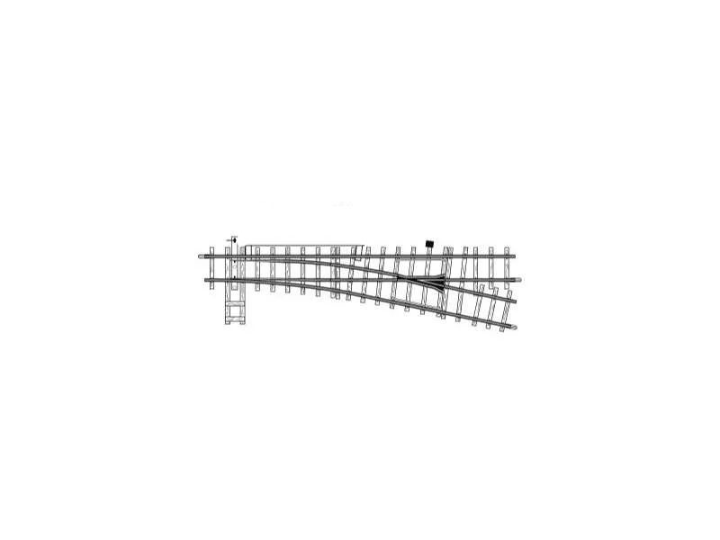 Elektrische Weiche rechts, 12°, 162,3 mm, R 515 mm, Spur H0m